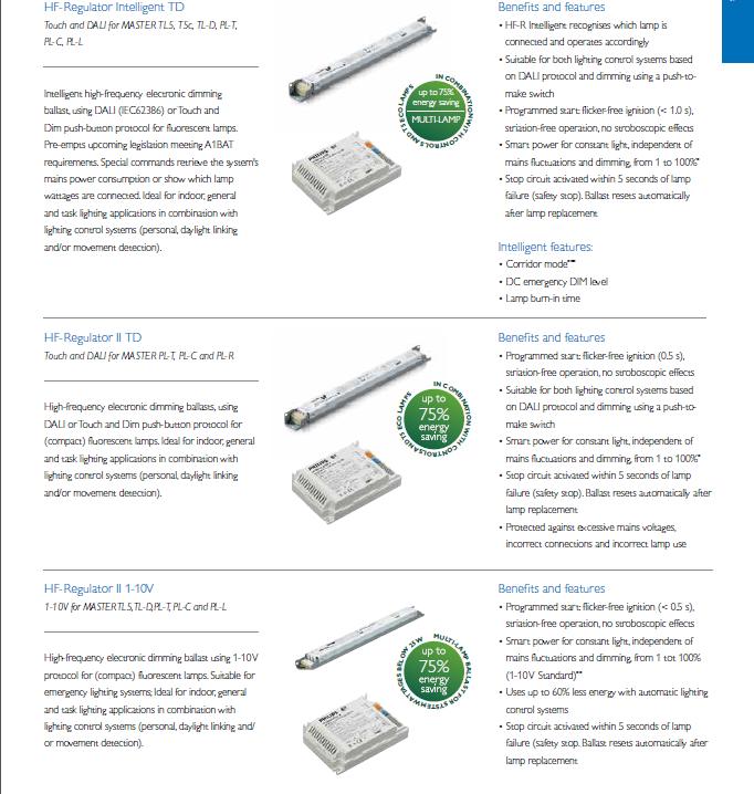 Ballast HF–R 3//414  TL5 220–240 PHILIPS HF–REGULATOR Electronic