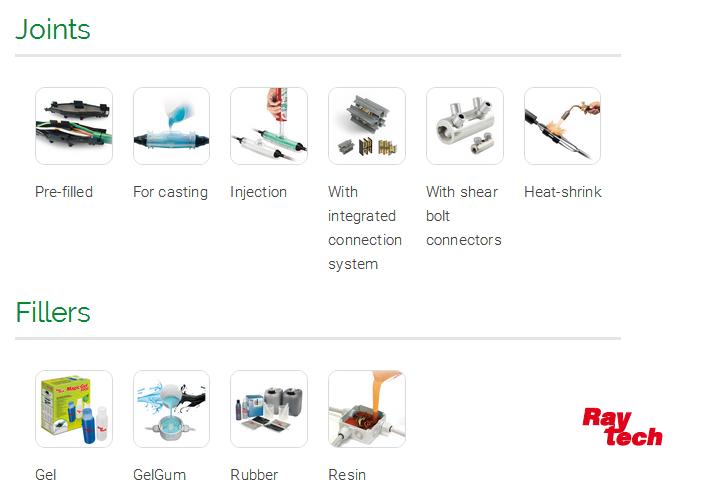 Raytech锐特驰-电缆周边材料,接线盒,绝缘胶带,热缩管,端子,电缆连接器,灌封胶/树脂,发热电缆,电气控制元件(18)......