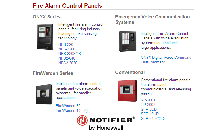 NOTIFIER by Honeywell霍尼韦尔消防系统(BLHO)Fire Systems